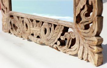 Lustro Lustra Kolonialne Lustra Drewniana Rama Glamour